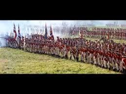 les batailles rangés du 18ème siècle. Quand on se battait face à face.